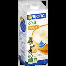 Soja à boire vanille calcium bio BJORG, 1L