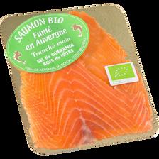 Saumon bio fumé Norvège Ecosse ou Irlande 2 tranches 80g
