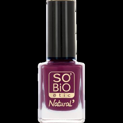 Vernis à ongles, soin et couleur, à l'huile de ricin biologique 05 divin violet - Sans étui
