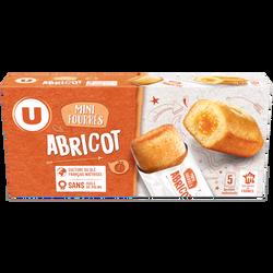 Mini gateaux fourrés abricot U,paquet de 150g