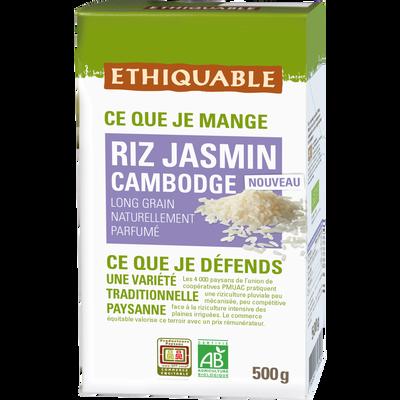 Riz jasmin Cambodge Bio ETHIQUABLE, 500g