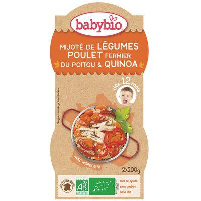 BABYBIO Mijoté Légumes Poulet Quinoa 2X200GRS