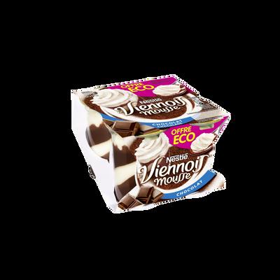 Dessert lacté goût chocolat LE VIENNOIS 4x90g Offre Economique