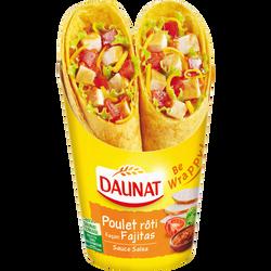 Sandwich wraps poulet rôti façon fajitas sauce salsa DAUNAT, 190g