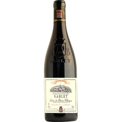 """Vin rouge AOP Côtes du Rhône """"Villages Sablet les Touradières"""", 75cl"""