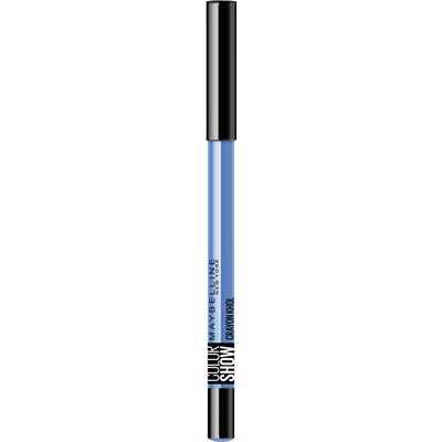 Crayon khôl colorshow 220 beauty blue GEMEY MAYBELINE, nu