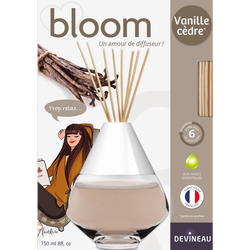 Diffuseur de parfum, à froid, bloom, 150ml, vanille cèdre
