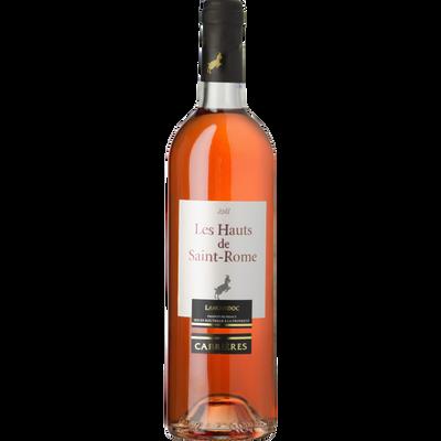 """Vin rosé AOP Côteaux du Languedoc """"Les Hauts de St Rome Cabrières"""", bouteille de 75cl"""