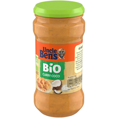 Sauce curry coco bio UNCLE BEN'S, 350ml