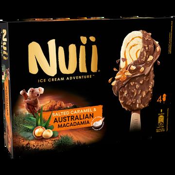 Coraya Bâtonnets Vanille Sauce Caramel Chocolat Lait Macadamia Nuii, X4 Soit272g