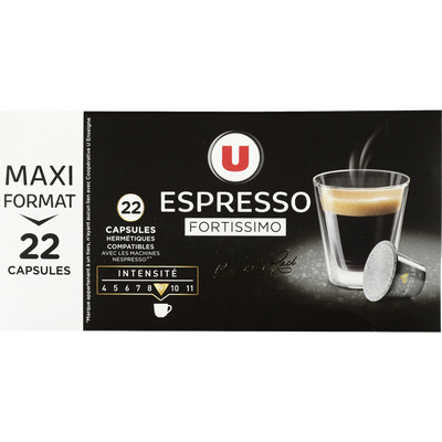 Café fortissimo U, 22 capsules, 114g