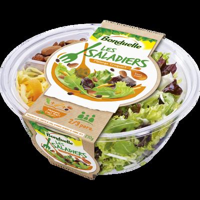 Saladier à partager carotte/amande, BONDUELLE, barquette, 270g