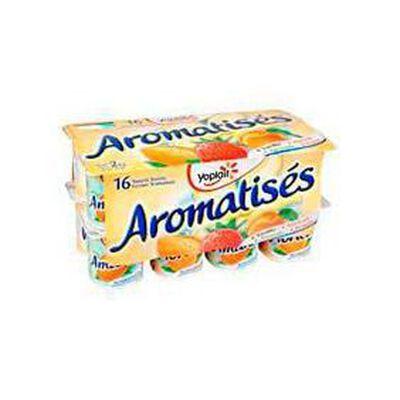 Yaourt sucré ferme aromatisé YOPLAIT, 16X125G,parfum 4 vanille, 4 abricot, 4 amande, 4 fraise