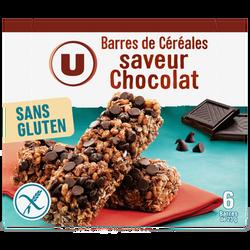 Barres de céréales saveur chocolat sans gluten U, boîte de 138g