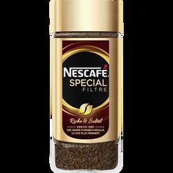 Café soluble NESCAFE spécial filtre flacon 100g