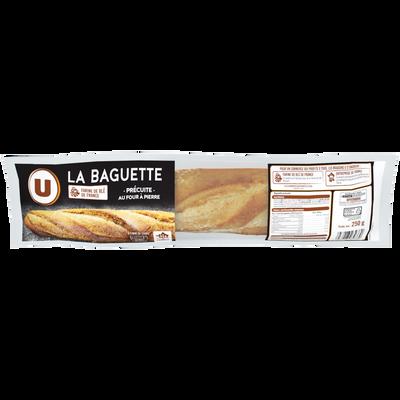 Baguette précuite sur four à pierre U, 250g