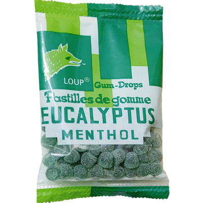 Pastilles de gomme eucalyptus menthol LOUP, 100g