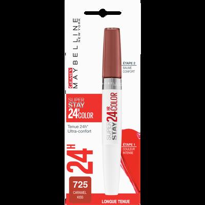 "Rouge à lèvres ""Superstay 24H"" n°725 caramel kiss - blister MAYBELLINE"