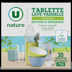 Tablettes lave-vaisselle classique Nature U, x30