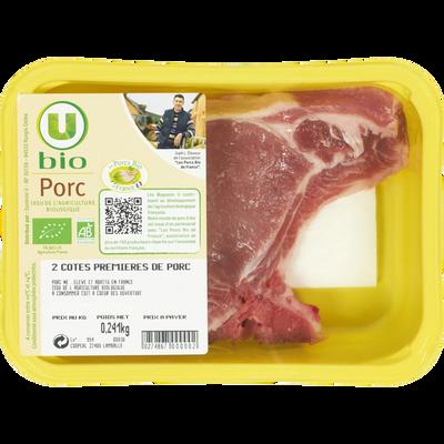 Porc - Côte première, U BIO, France, 2 pièces
