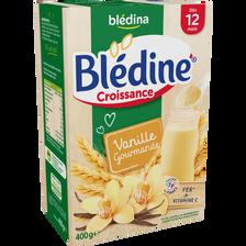 Lait croissance Blédine céréales vanille BLEDINA, dès 12 mois, paquetde 400g