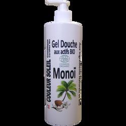 Gel douche monoï bio antioxydant et tonique COULEUR SOLEIL, 500ml