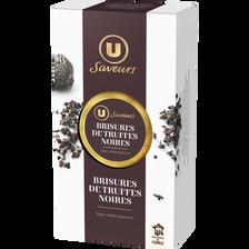 Brisure de truffes noires U SAVEURS, pot en verre de 25g