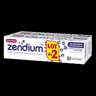 Dentifrice blancheur & douceur ZENDIUM, tube de 75ml