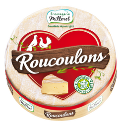 Fromage pasteurisé Roucoulons 30% de MG FROMAGERIE MILLERET, 220g