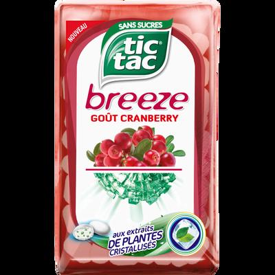 Pastilles arômatisées à la cranberry breeze TIC TAC, 18g