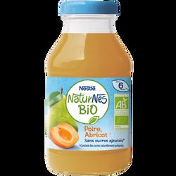Jus poire abricot bio NATURNES, 200ml