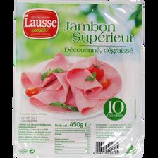 Jambon supérieur découenné et dégraissé LES SALAISONS LAUSSE, 10 tranches, 450g