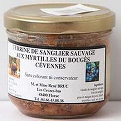 Terrine de sanglier sauvage aux myrtilles du Bouges Cévennes, 180g