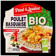 Poulet basquaise bio PAUL & LOUISE, barquette de 285g
