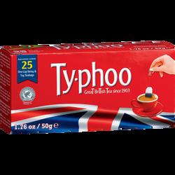 Thé english TYPHOO, 25 sachets de 50g