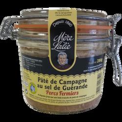 Pâté de campagne au sel de Guérande porc fermier MERE LALIE, 280g