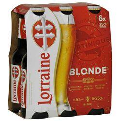 Bière blonde, 5° vol., LORRAINE,  6x25cl