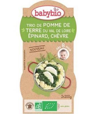 Bol Pomme de terre Epinard Chèvre BABYBIO dès 8mois 2x200g