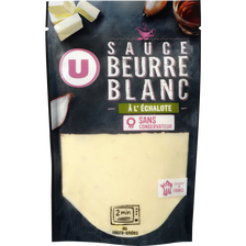Sauce beurre blanc échalote U, transformée en France, sachet de 180g