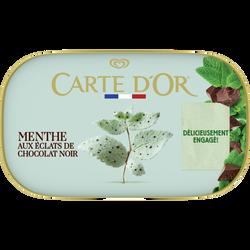 Crème glacée menthe éclats chocolats noir CARTE D'OR, 491g