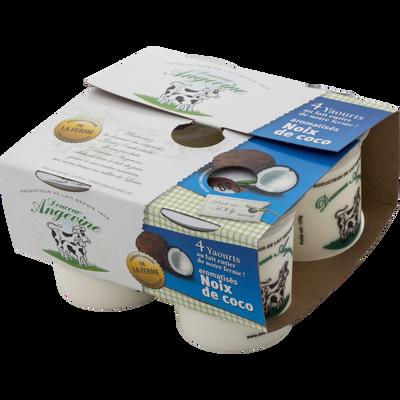 Yaourts arômatisés noix de coco GAEC DU LATHAN, 4x125g