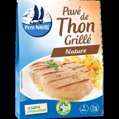 Pavé de thon grillé PETIT NAVIRE, boîte de 120g