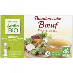 BOUILLON CUBE BOEUF JARDIN BIO