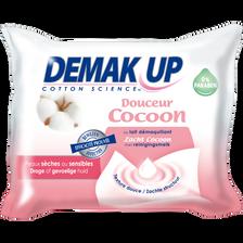 Lingettes démaquillantes pour peaux sèches et sensibles DEMAK'UP, x25