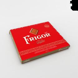 Carrés de chocolat au lait fourrés à la crème noisettes et amandes  FRIGOR CAILLER x40, 280g