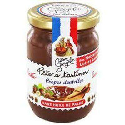 Pâte à tartiner aux Noisettes du Lot et Garonne, Cacao et Crêpes dentelles  LUCIEN &