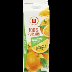 Pur jus orange sans pulpe U, 2l