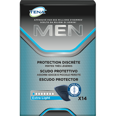 Protection discrète men extra light TENA, paquet de 14 medium