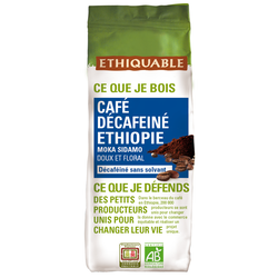 CAFÉ MOULU DÉCAFÉINÉ PURE ORIGINE ETHIOPIE  BIO 250G