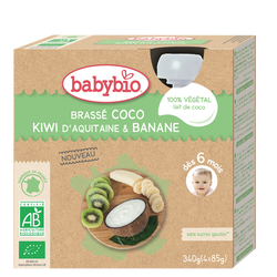 Gourde lait coco kiwi banane BABYBIO 4x85g